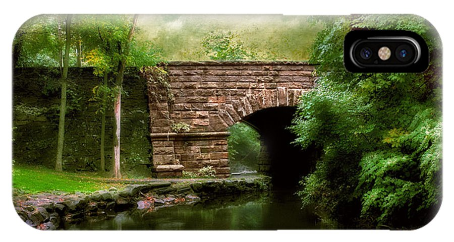 Old Countrybridge Green Art IPhone X Case featuring the photograph Old Country Bridge by Jessica Jenney