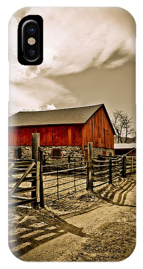 Americana IPhone Case featuring the photograph Old Country Farm by Marilyn Hunt