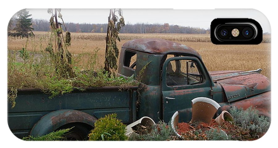 Landscape IPhone X Case featuring the photograph Old Dodge New Job by Peggy King