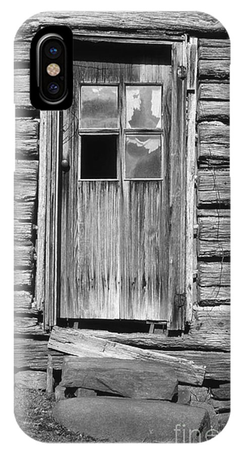 Aged IPhone X Case featuring the photograph Old Door by Richard Rizzo