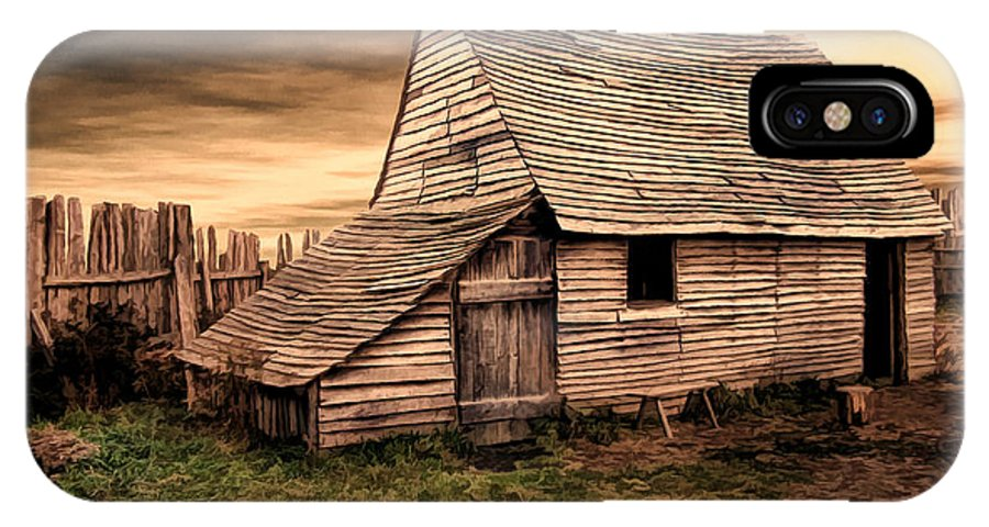 Barn IPhone X Case featuring the photograph Old English Barn by Lourry Legarde