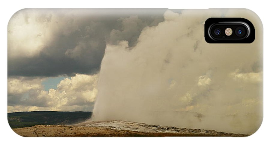 Geysers IPhone X Case featuring the photograph Old Faithful by Jeff Swan