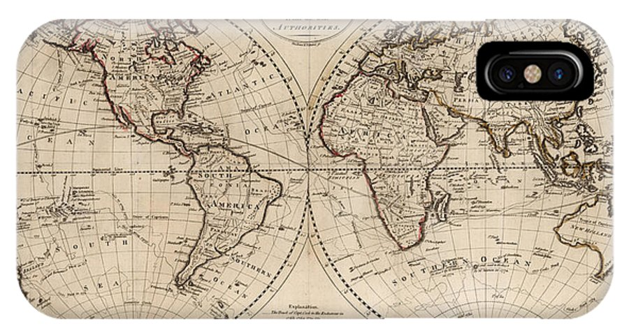 Old Fashioned World Map IPhone Case For Sale By - World map for sale
