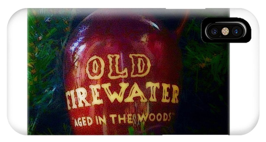 Photography IPhone X Case featuring the photograph Old Firewater Aged In The Woods by Debra Lynch