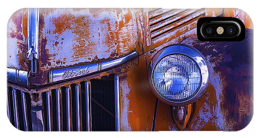 Truck IPhone X Case featuring the photograph Old Ford Pickup by Garry Gay