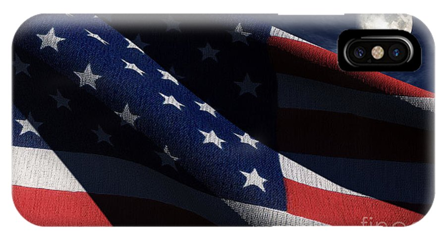 Us Flags IPhone X Case featuring the digital art Old Glory 2 by Richard Rizzo