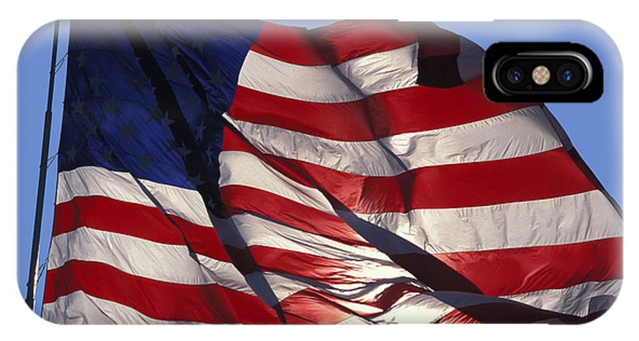 American IPhone Case featuring the photograph Old Glory by Carl Purcell