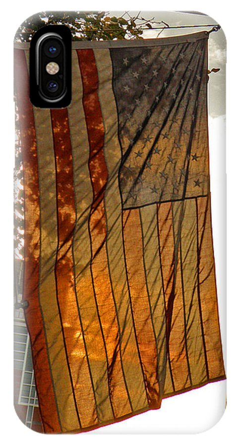 American Flag IPhone X Case featuring the photograph Old Glory by Donna Shahan