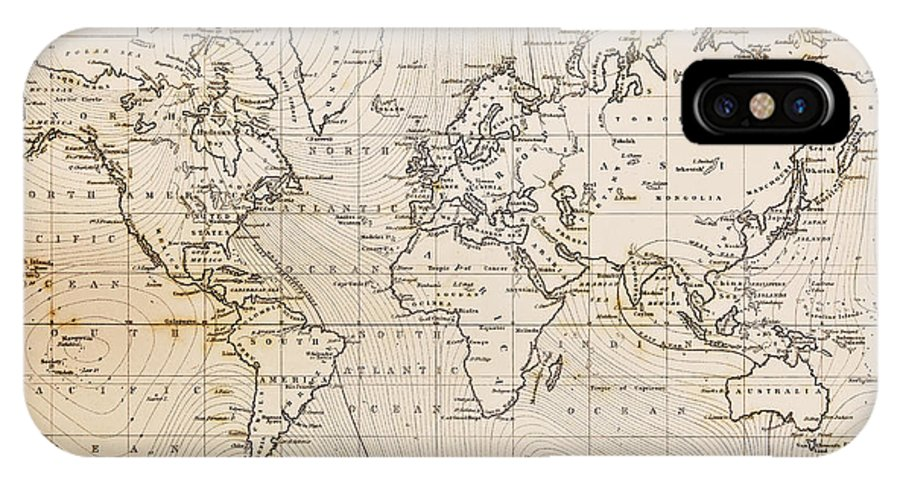 Old Hand Drawn Vintage World Map IPhone X / XS Case for Sale by ...