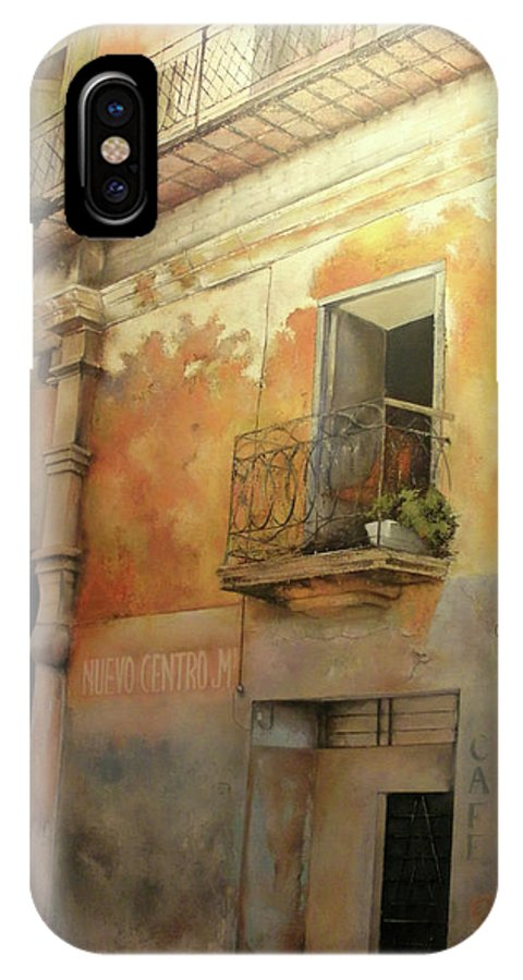 Havana Cuba IPhone X Case featuring the painting Old Havana by Tomas Castano