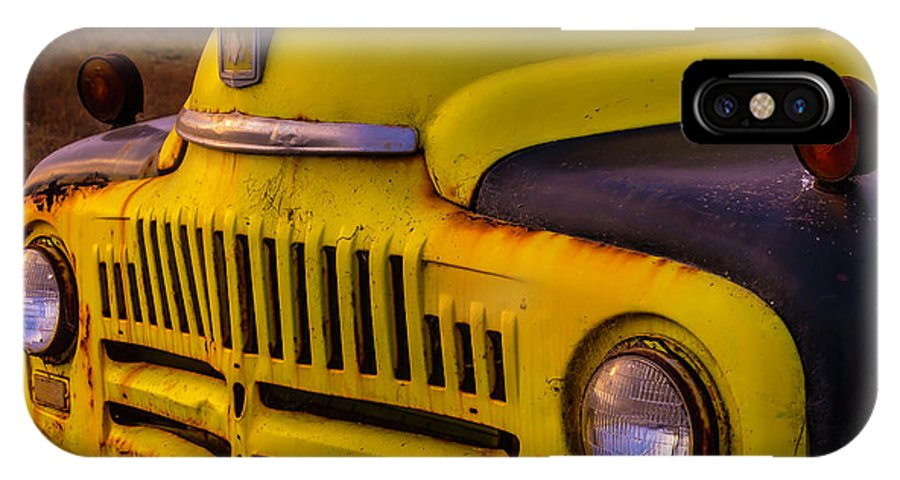 Truck IPhone X Case featuring the photograph Old International Pickup by Garry Gay