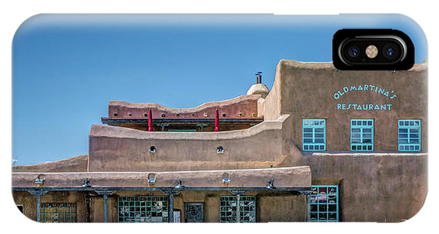 New Mexico IPhone X / XS Case featuring the photograph Old Martina's Place by Greg Hjellen