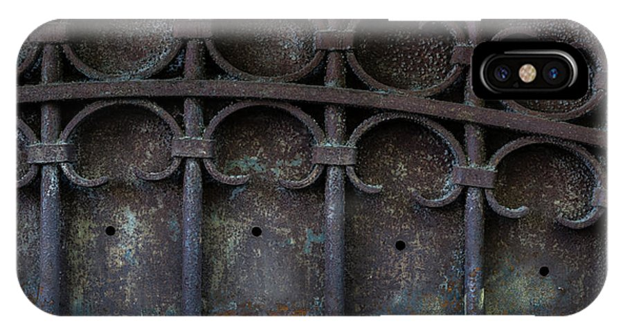 Gate IPhone X Case featuring the photograph Old Metal Gate by Elena Elisseeva