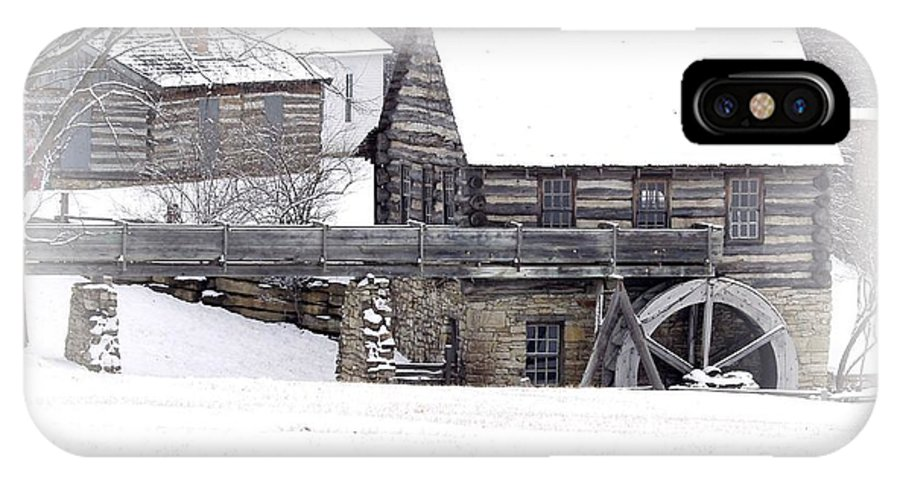Mill IPhone X Case featuring the photograph Old Mill by Carol Sweetwood