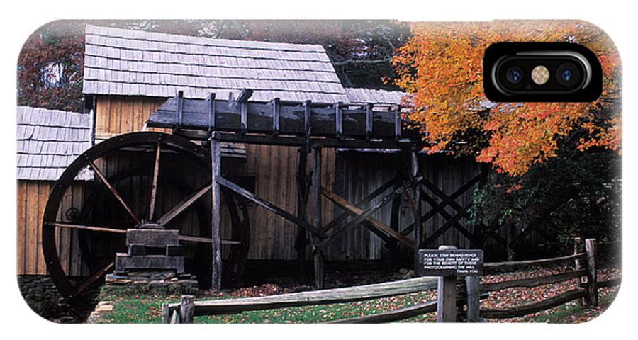 Waterwheel IPhone X Case featuring the photograph Old Mill In Virginia by Carl Purcell