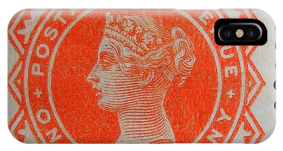 Old British Postage Stamp IPhone X / XS Case featuring the photograph Old Orange Halfpenny Stamp by James Hill