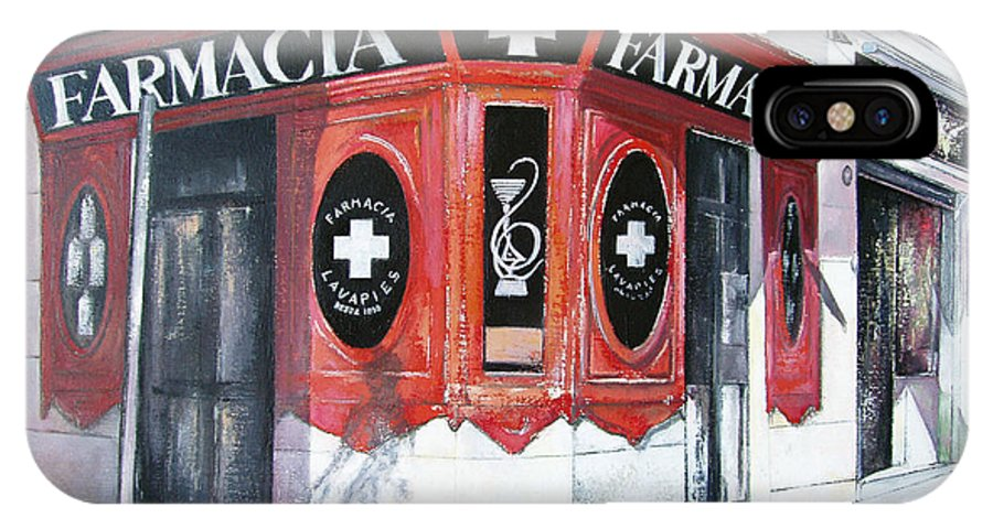 Pharmacy IPhone X / XS Case featuring the painting Old Pharmacy by Tomas Castano