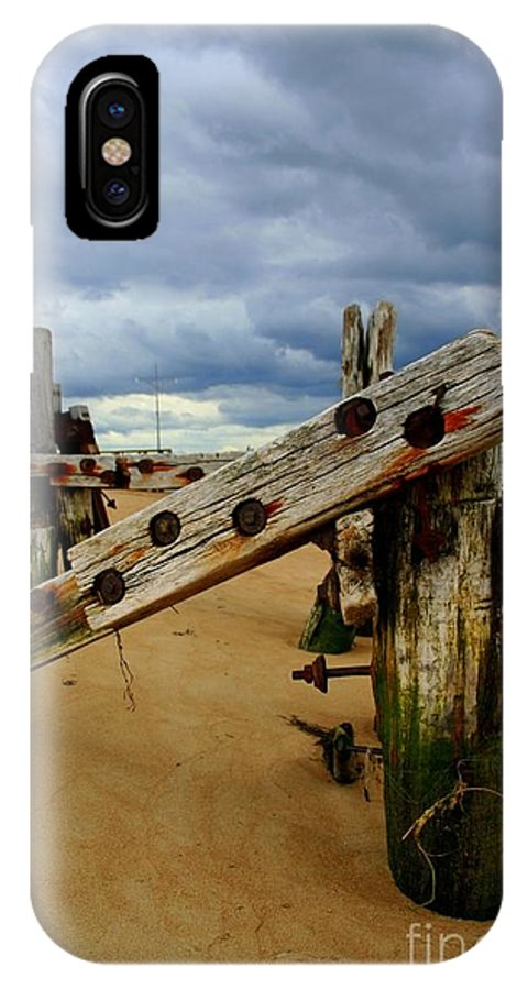Plum Island IPhone X / XS Case featuring the photograph Old Pilings by John Kenealy