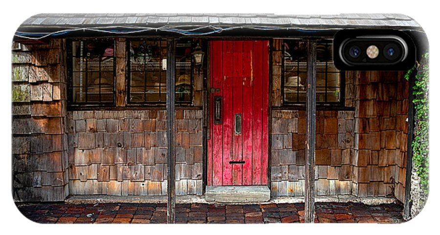 Door IPhone X Case featuring the photograph Old Red Door by Christopher Holmes