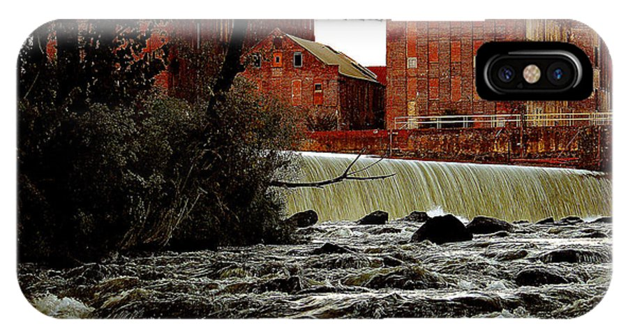 Water IPhone X Case featuring the photograph Old River Dam In Columbus Georgia by Ruben Flanagan