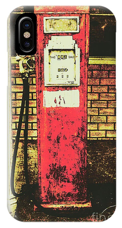 Petrol IPhone X Case featuring the photograph Old Roadhouse Gas Station by Jorgo Photography - Wall Art Gallery