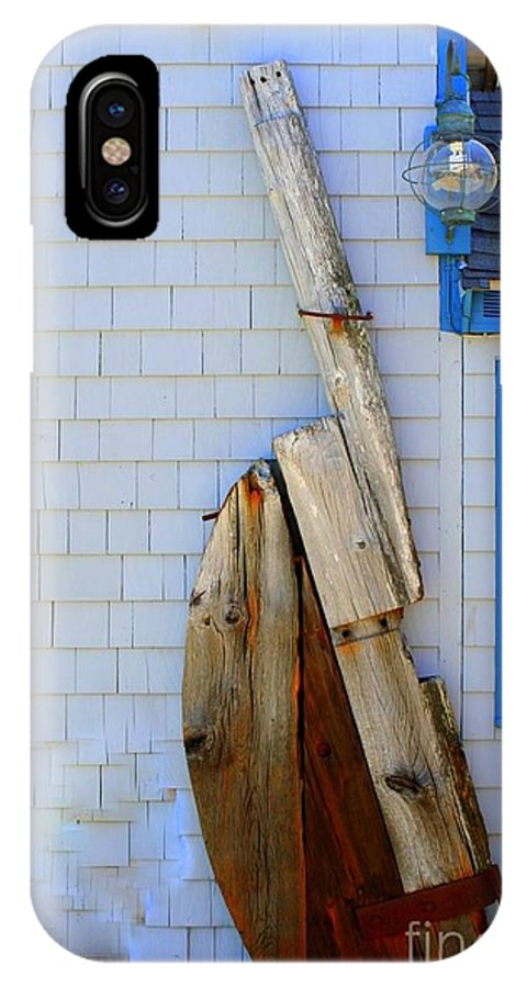 Rockport IPhone X / XS Case featuring the photograph Old Rudder by John Kenealy