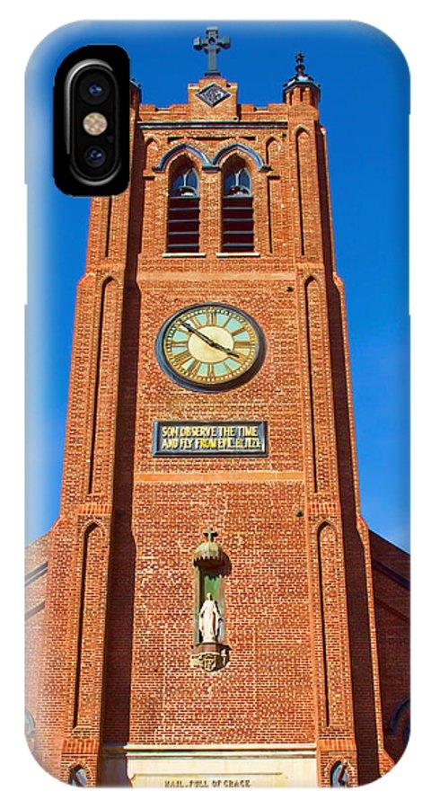 Bonnie Follett IPhone X Case featuring the photograph Old St. Mary's Church by Bonnie Follett