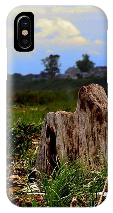 Stump IPhone X / XS Case featuring the photograph Old Stump by John Kenealy
