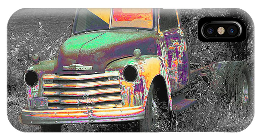 Car IPhone X Case featuring the digital art Old Timer by Robert Meanor