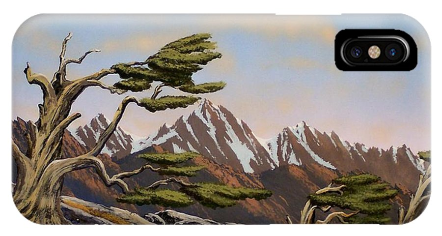 Mountains IPhone X / XS Case featuring the painting Old Timers by Frank Wilson