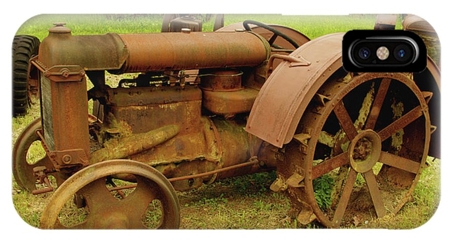 Tractor IPhone X / XS Case featuring the photograph Old Tractor Graveyard by James C Thomas