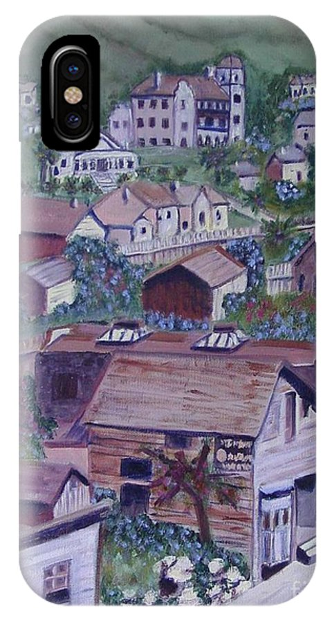 Ventura IPhone X Case featuring the painting Old Ventura by Laurie Morgan