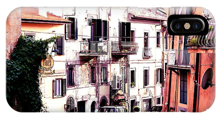 House IPhone X Case featuring the digital art Old Village by Lyriel Lyra