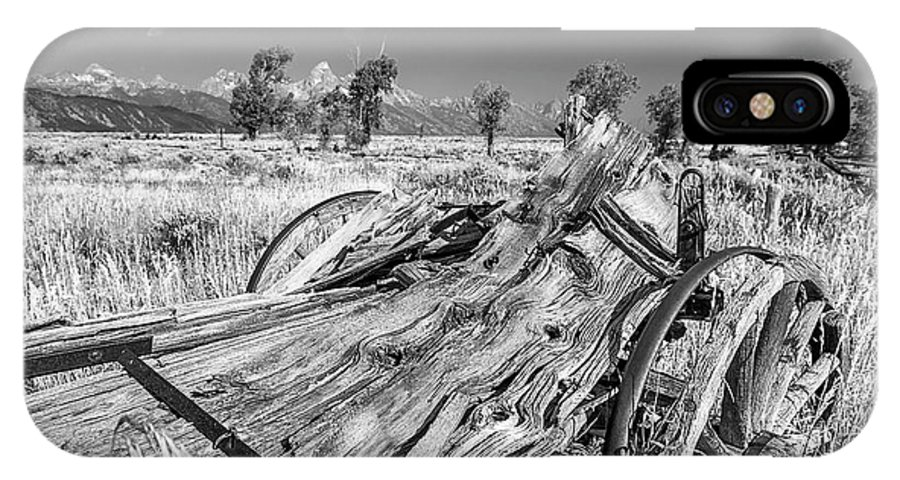 Old Rotting Wagon IPhone X Case featuring the photograph Old Wagon, Jackson Hole by Daryl L Hunter