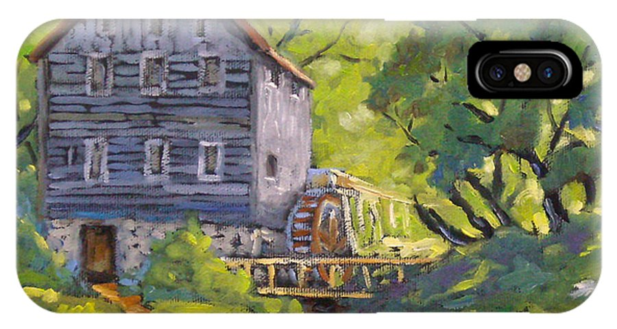 Art IPhone X Case featuring the painting Old Watermill by Richard T Pranke