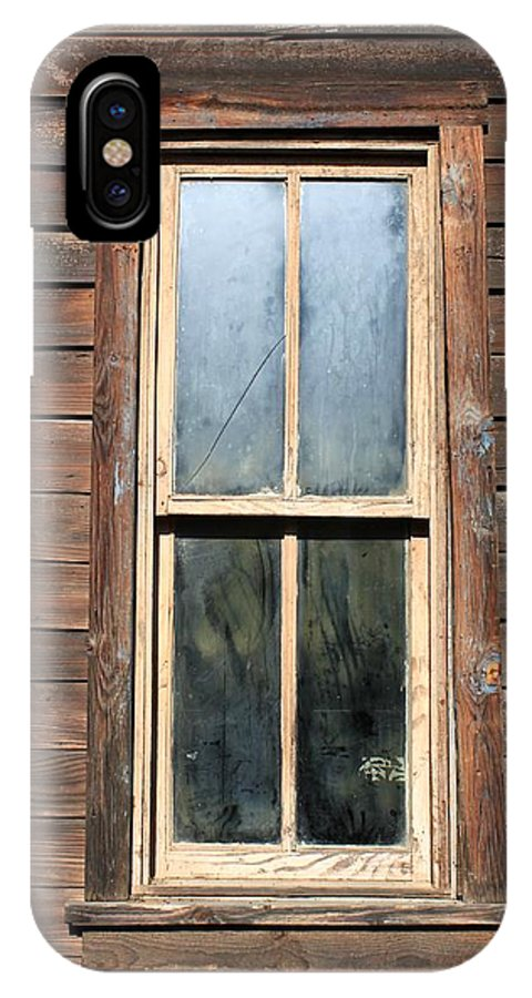 Rugged Buildings IPhone X Case featuring the photograph Old Western Window by Rose Webber Hawke