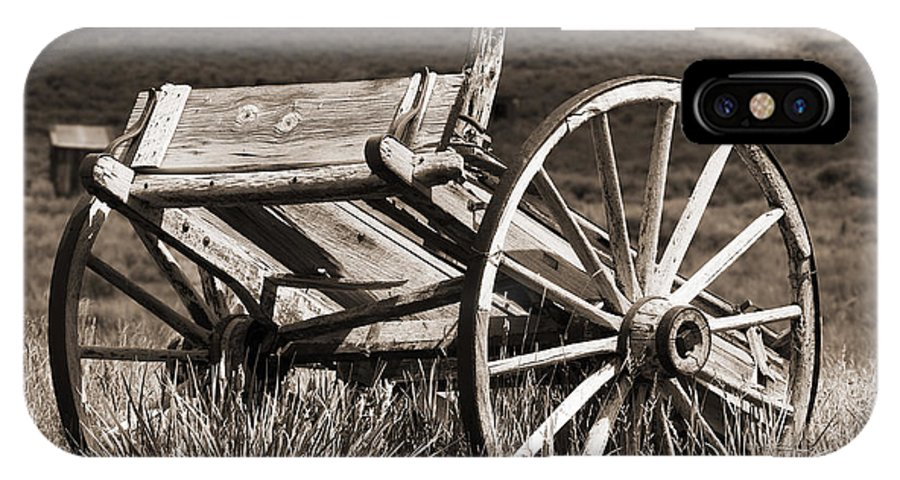 Antique IPhone X Case featuring the photograph Old Wheels 2 by Kelley King
