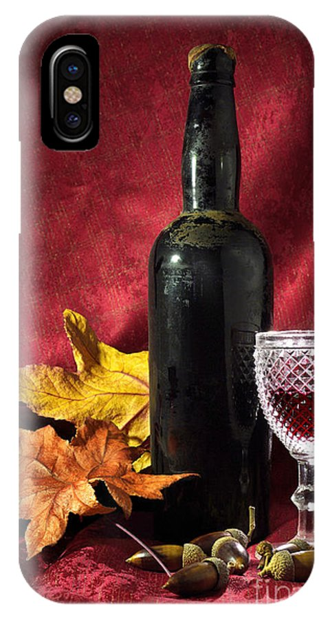 Acorn IPhone X Case featuring the photograph Old Wine Bottle by Carlos Caetano