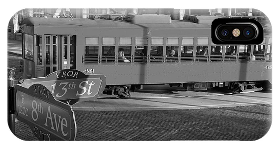 Ybor City Florida IPhone X Case featuring the photograph Old Ybor City Trolley by David Lee Thompson