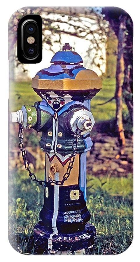 Fireplug IPhone X Case featuring the photograph Oldenburg Fireplug by Gary Wonning