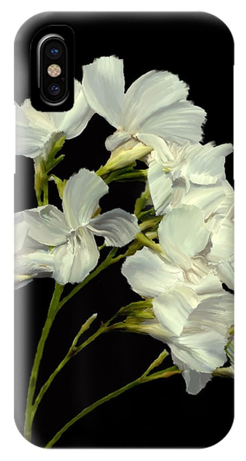 Flowers IPhone X Case featuring the photograph Oleander by Kurt Van Wagner