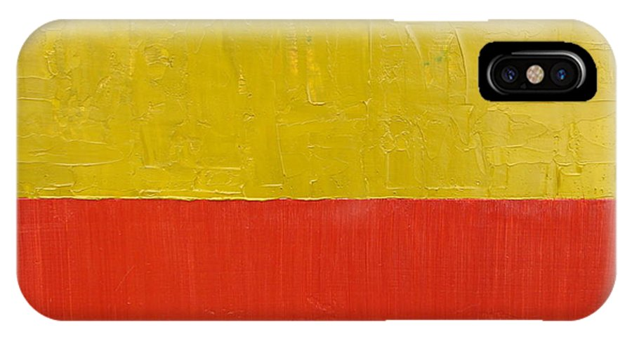 Red IPhone X Case featuring the painting Olive Fire Engine Red by Michelle Calkins