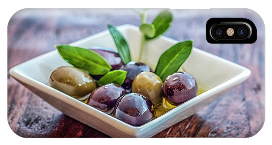Olives IPhone X Case featuring the photograph Olives by Marianne Donahoe