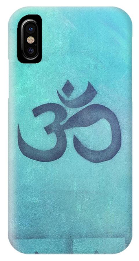Buddhism IPhone X Case featuring the painting OM by Buffy Heslin