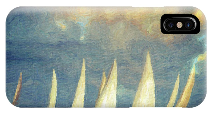 Oil Painting IPhone X Case featuring the painting On A Day Like Today by Zapista Zapista