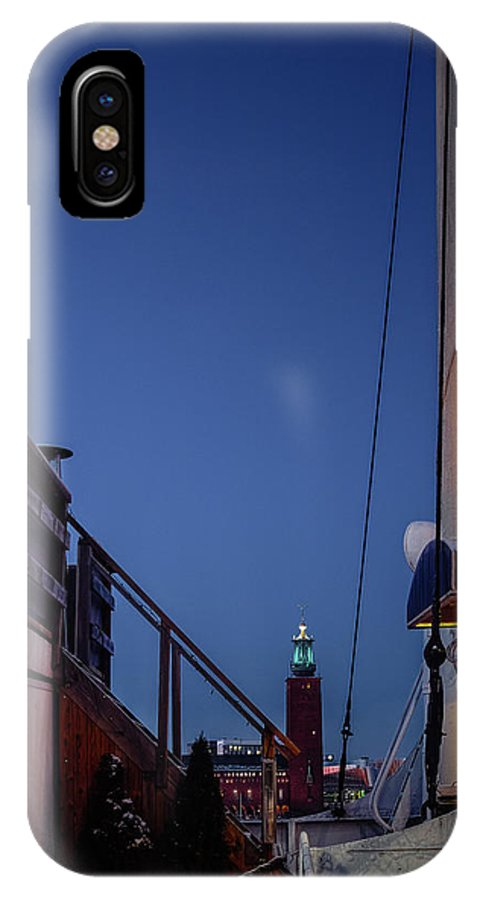 Blue Hour IPhone X Case featuring the photograph On Board by Mikael Jenei