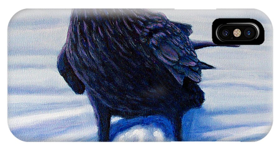 Raven IPhone Case featuring the painting On Canyon Road by Brian Commerford