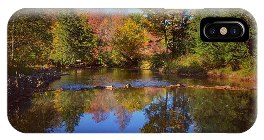 Reflections IPhone X Case featuring the photograph On Kinzua Creek by Shelley Smith