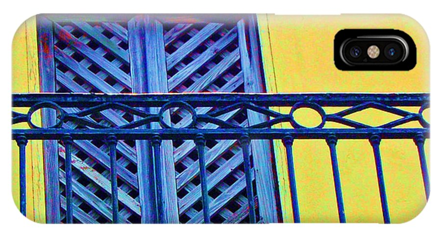 Balcony IPhone X Case featuring the photograph On The Balcony by Debbi Granruth