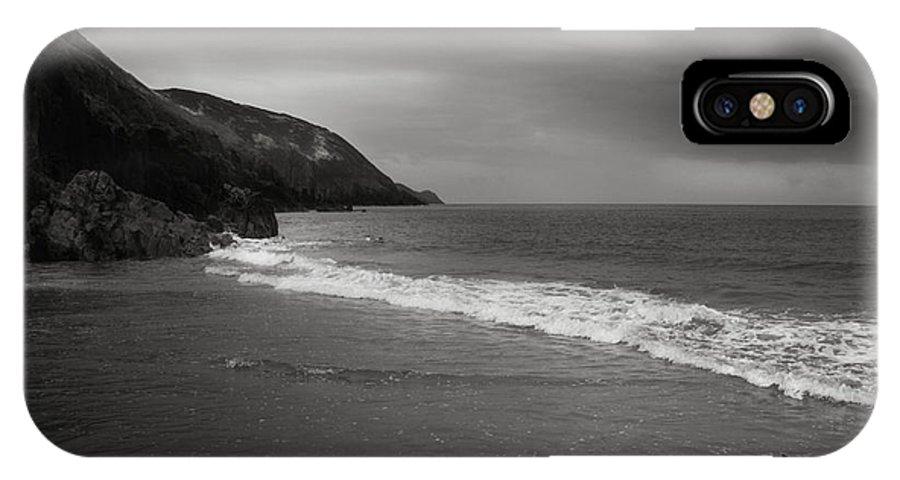 Beach IPhone X Case featuring the photograph On The Beach by Angel Ciesniarska